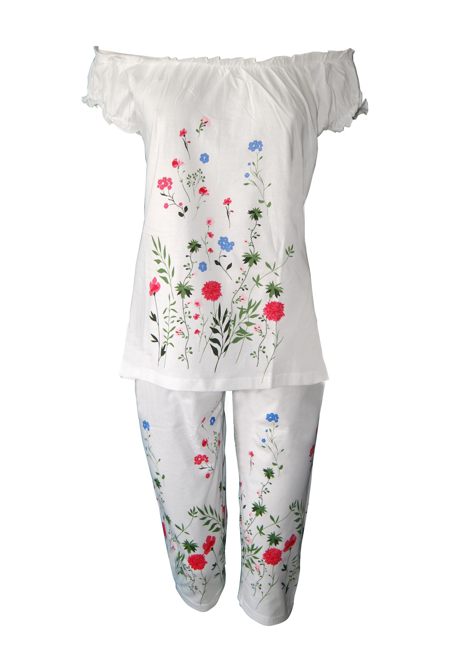 6dea16d59e56 Καλοκαιρινή γυναικεία πυτζάμα βισκόζη floral Ανοιξη 2019 μόνο στο BUSTO