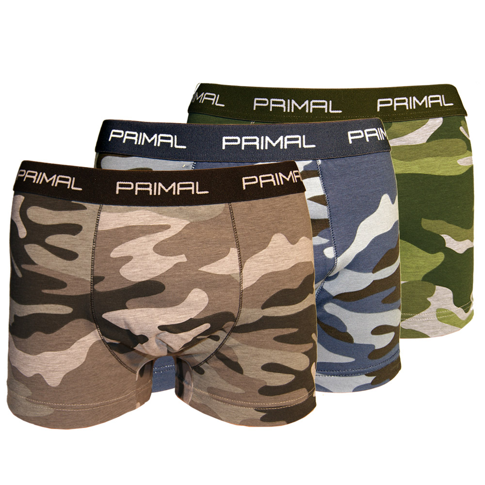 5fd0884945de Ανδρικά εσώρουχα boxers παραλλαγής set 3 (μπλε+γκρι+πράσινο)PRIMAL ...