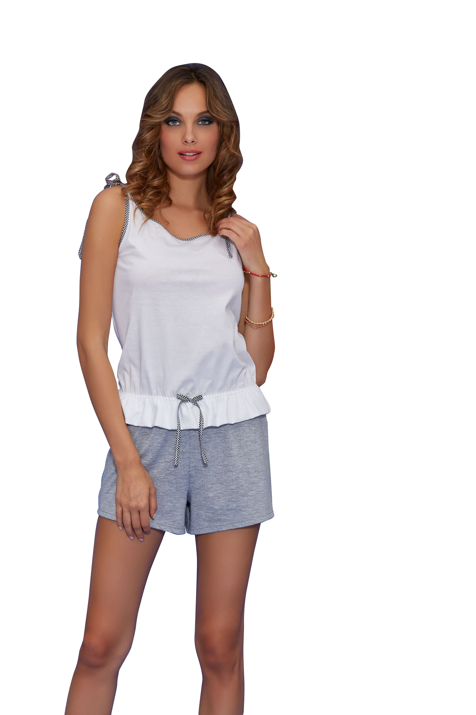 0ce265aec29 Γυναικεία καλοκαιρινή πυτζάμα φόρμα σορτς made in Italy μόνο στο BUSTO