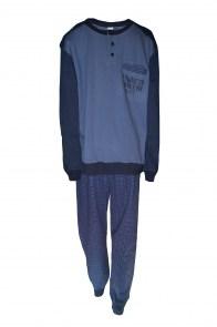 Ανδρική πυτζάμα χειμερινή Μπλε με καρό δίχρωμο παντελόνι ENRIKO COVERI 01927a9c9d5
