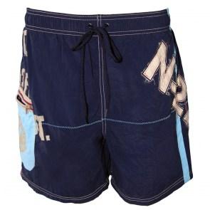 Ανδρικό μαγιό Βερμούδα Μπλε με σχέδια και τσέπη στο πλάι Navigare Vento di  mare f04138a2ebd