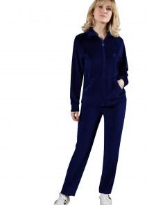 Γυναικεία φόρμα βελούδινη Μπλε NAZZARENO GABRIELLI made in Italy 5e23763d48e