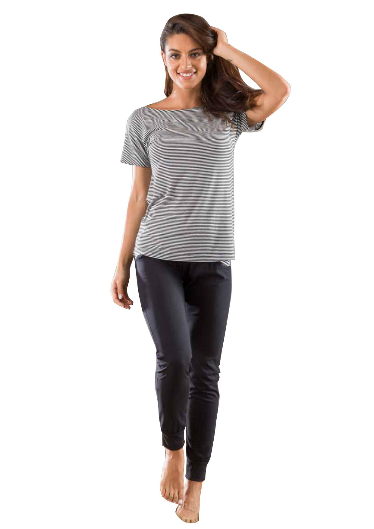 031adf9ffc3 Καλοκαιρινή γυναικεία πυτζάμα με μακρύ παντελόνι βισκόζη Ανοιξη 2019 μόνο  στο BUSTO